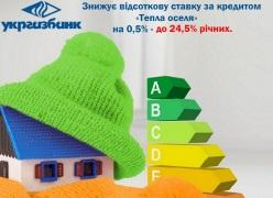 З 1 жовтня 2015 року кредити в УКРГАЗБАНКУ за програмою «Тепла оселя» з відшкодуванням від держави стають доступнішими для українців!