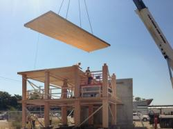 Начало строительства самой высокой деревянной башни