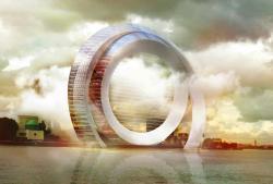 Инновационное здание ветровой турбины