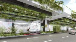 Оформление экологического зеленого фасада