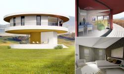 Инновационный дом, вращающийся вслед за солнцем