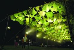 Инсталляция геотектсильного фасада