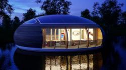 Глобальное остекление для плавучего эко-дома