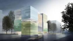 Оригинальный прозрачный фасад из солнечных панелей