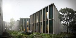 Новый проект экологического строительства из дерева