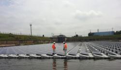 Открытие плавучей электростанции в Китае