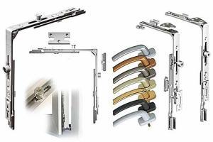 Фурнитура для окон и дверей ПВХ: ручки, петли, замки,цилиндры.