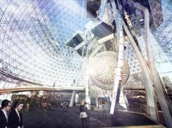 Сферическое остекление фасада