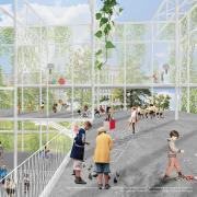 Проницаемый фасад для проекта школы