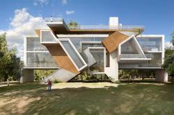 Футуристические здания с уникальным остеклением