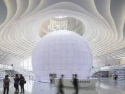 Уникальное белоснежное здание-библиотека